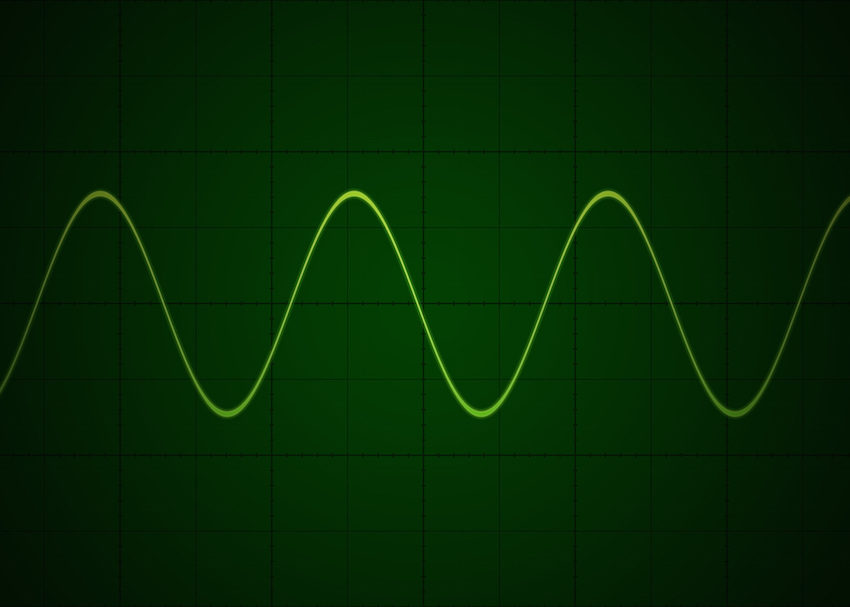 Sine wave on oscilloscope