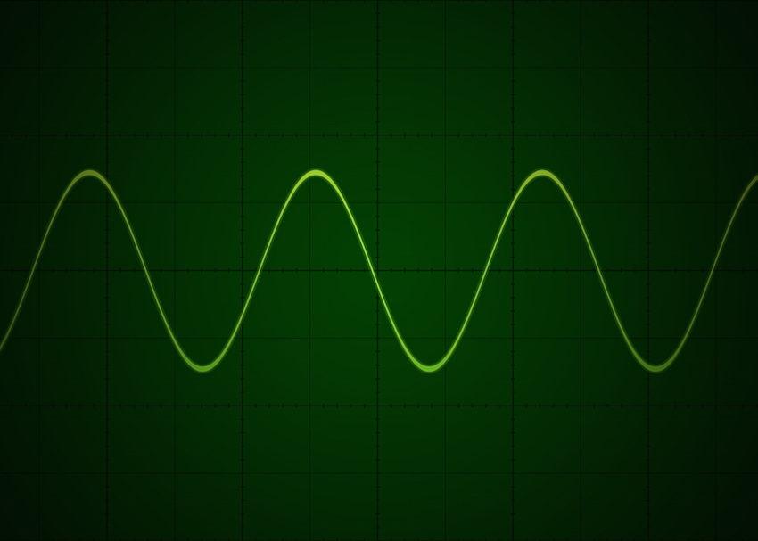 Sine wave on oscilloscope