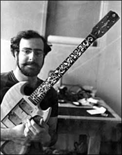 Stuart Spector with his first handmade guitar.