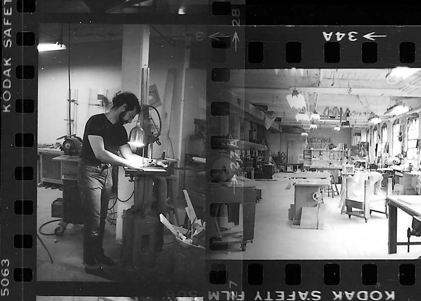 Stuart Spector in his workshopStuart Spector in his workshop