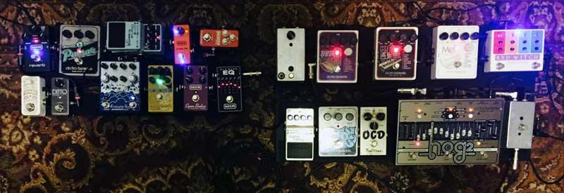 My pedal setup - Guitar synthesis