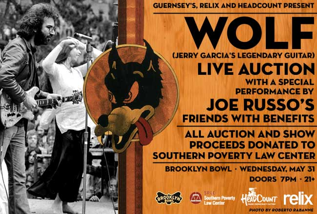Jerry Garcia Wolf auction flyer
