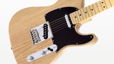 An ash-bodied Fender Telecaster