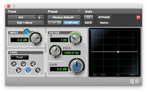The polarity invert switch can be seen within the green box of this screenshot of a EQ3 plug in.