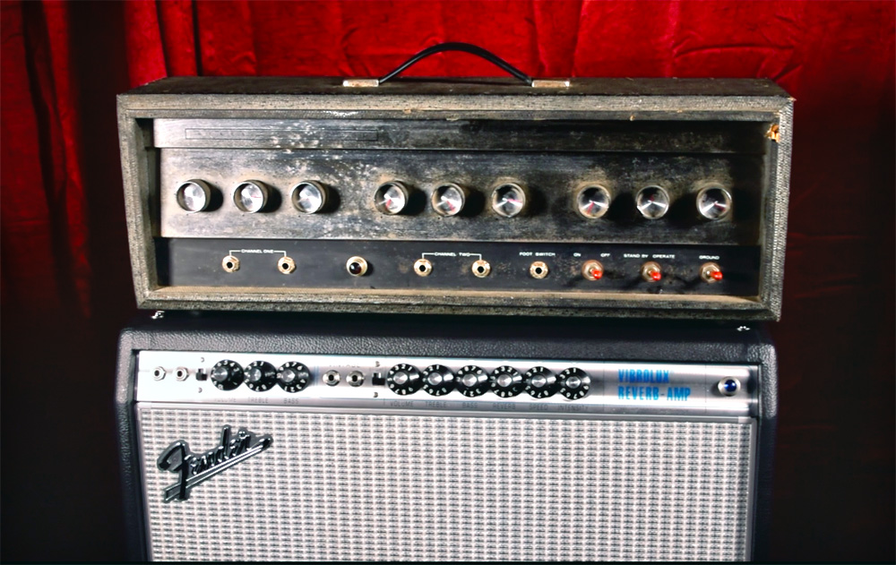 Silvertone 1484 and Fender Vibrolux amp