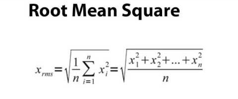 The Root Mean Square Formula (told you it would get nerdy)