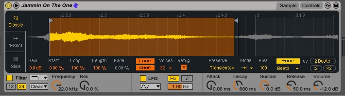 Ableton - Simpler (Classic Playback Mode)