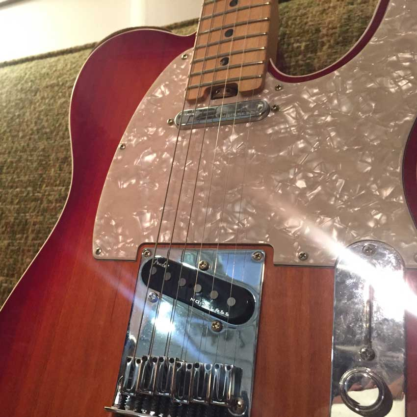 Fender American Elite Telecaster with passive 4th Generation Noiseless pickups.