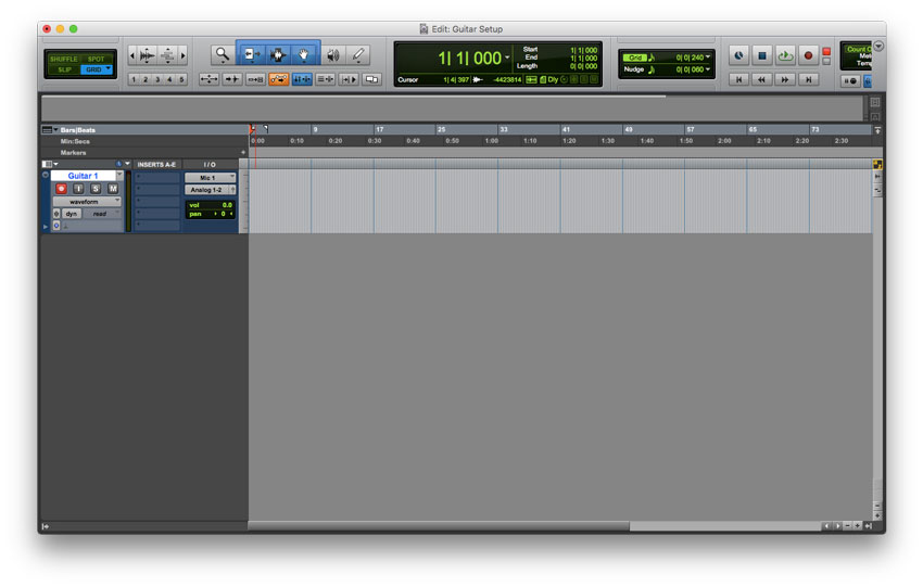 Arm your track for recording, and rename the track to accurately describe its content.