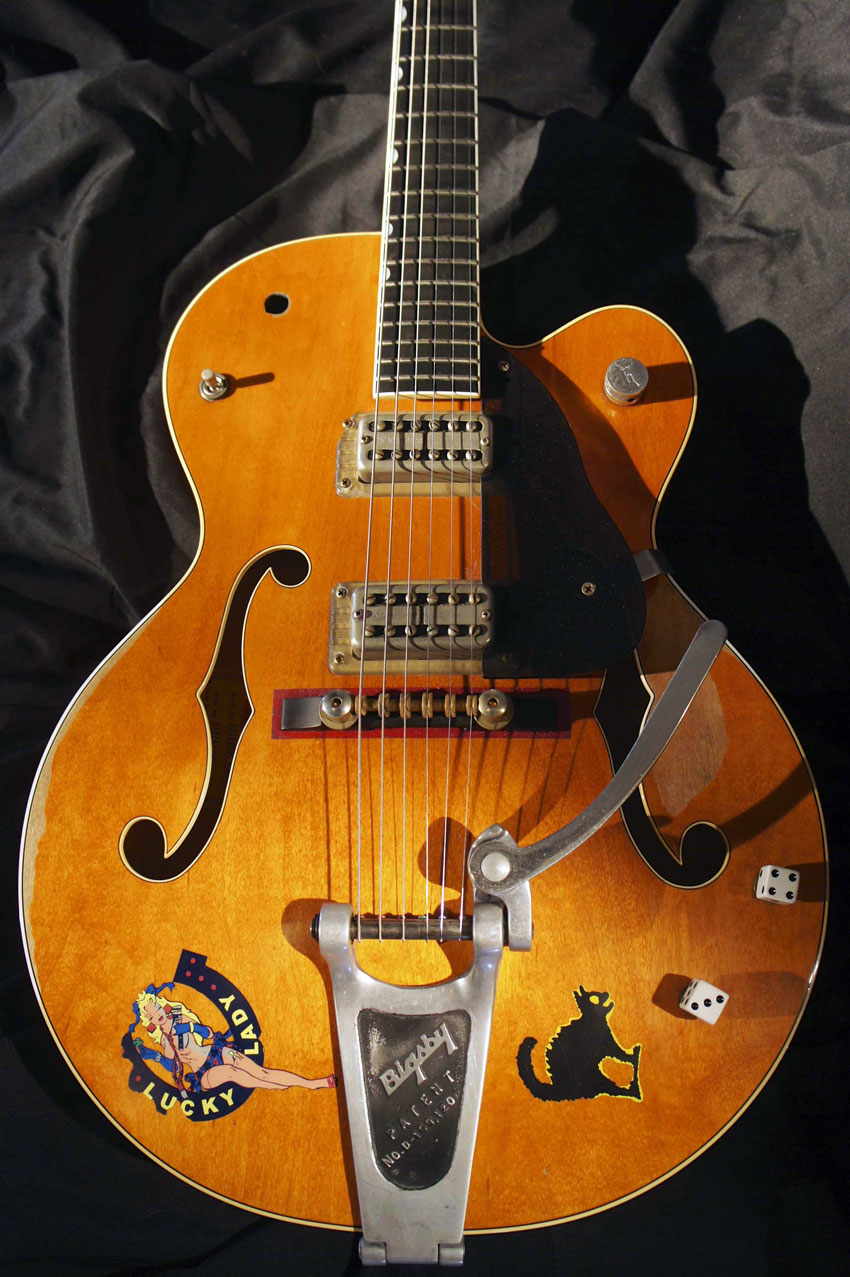 A recreation of Brian Setzer's 1959 Gretsch G6120