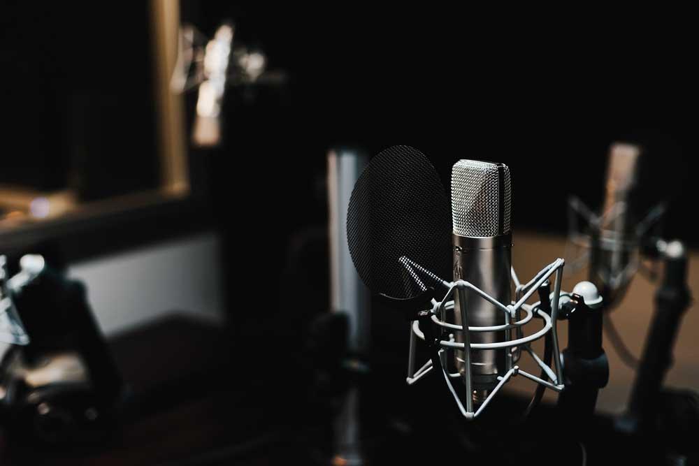 Condenser Mic in studio