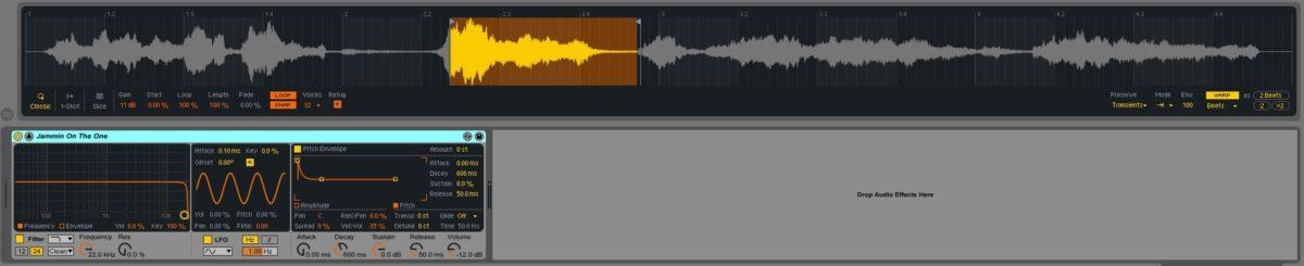 Ableton - Simpler (Screenshot)