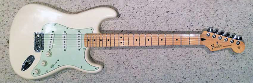 My Strat with the new pickguard