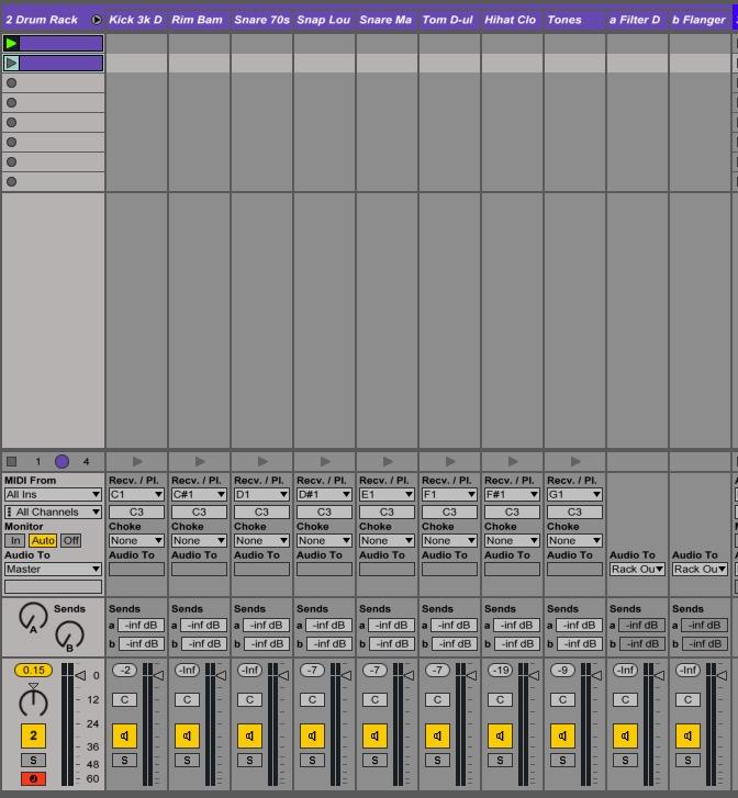 Ableton Drum Rack expand