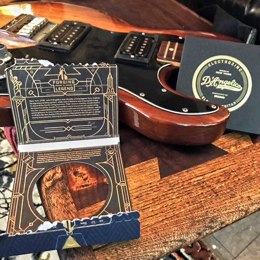 D'Angelico Electrozinc Strings Peavey T-60