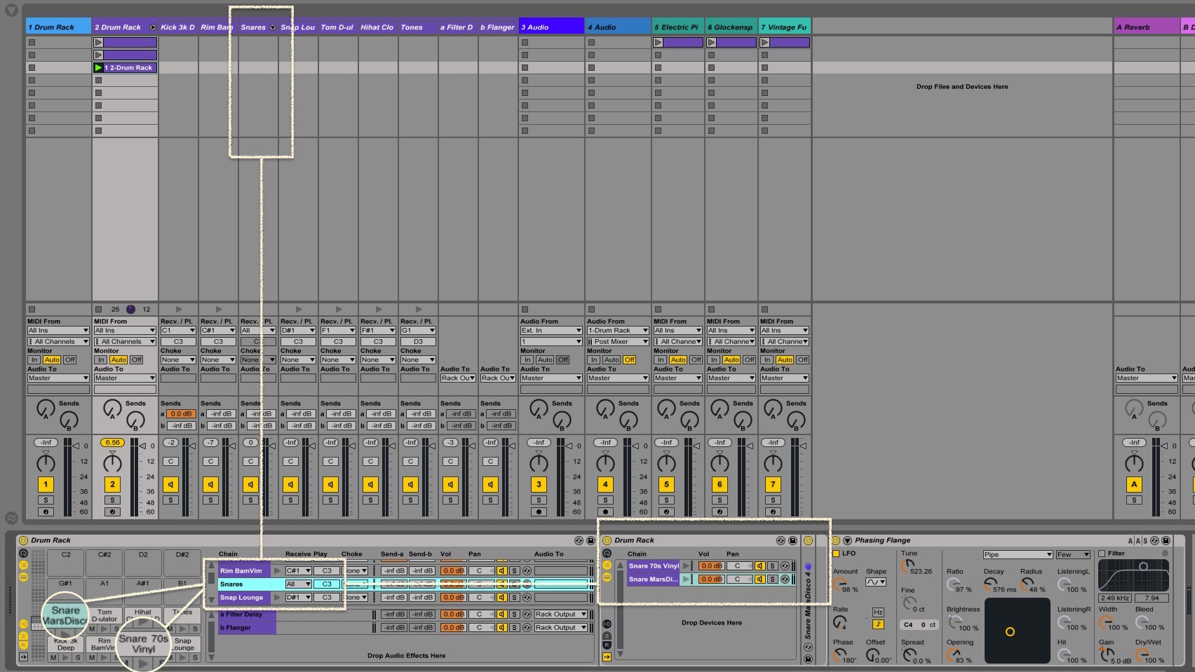 Ableton Drum Rack group