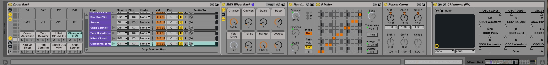Ableton Drum Rack MIDI
