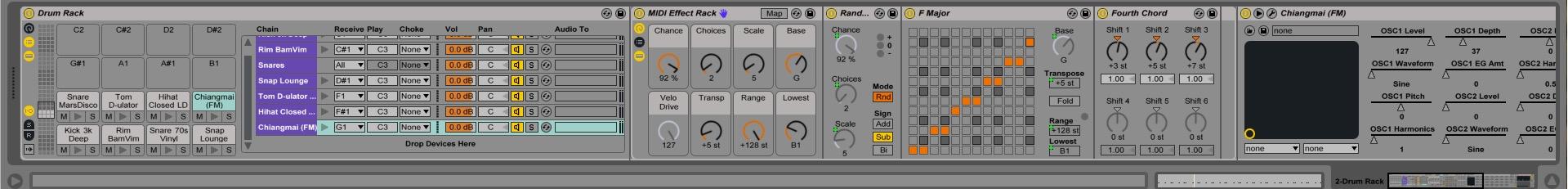 Ableton Drum Rack MIDI