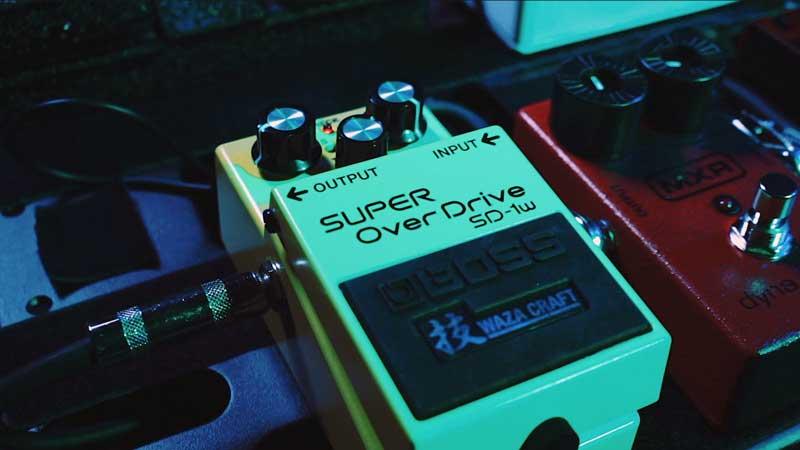 Boss SD-1W Waza overdrive pedal