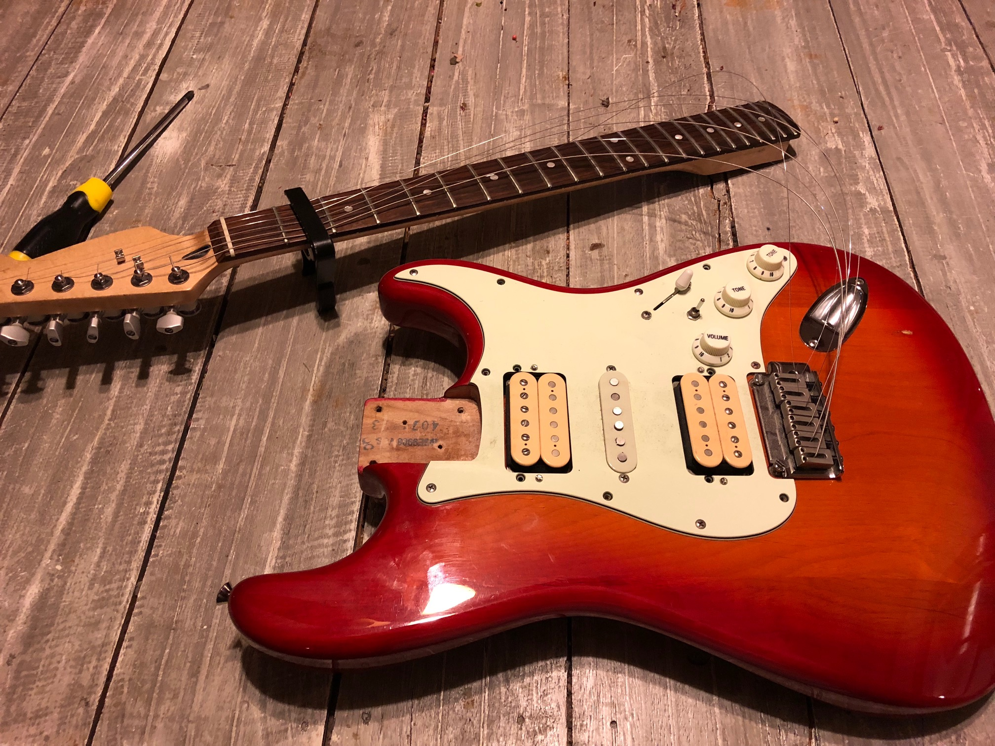 Two Mods To Make Your Stratocaster Sound Like A Telecaster Zzounds Pickup Wiring Remove Neck From Guitar