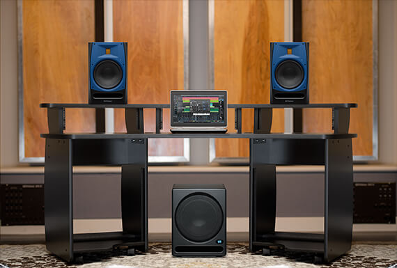PreSonus T10 Temblor subwoofer and R65 studio monitors