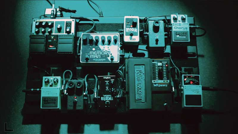 Our Radiohead-inspired pedalboard for the video