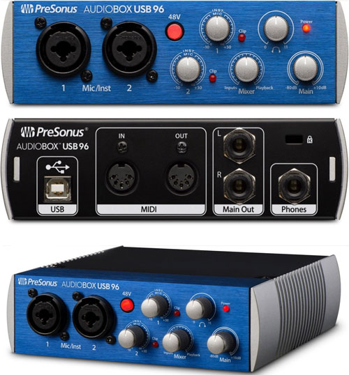 PreSonus Audiobox 96 USB audio interface