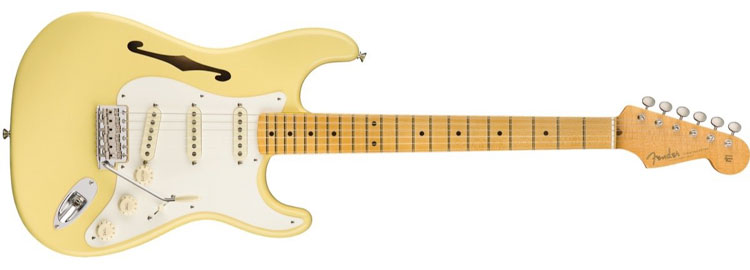 Eric Johnson Thinline Stratocaster in Vintage White