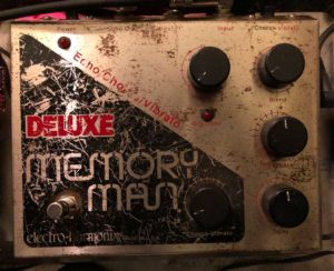 Analog delays sounds were recorded with my battle-worn Electro-Harmonix Deluxe Memory Man.
