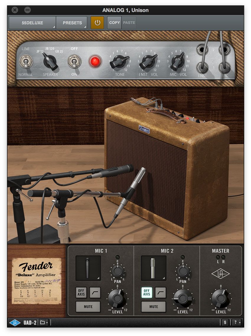 Fender Deluxe UAD2 Amp Model