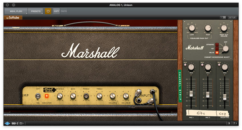 Marshall Plexi UAD2 Amp Model