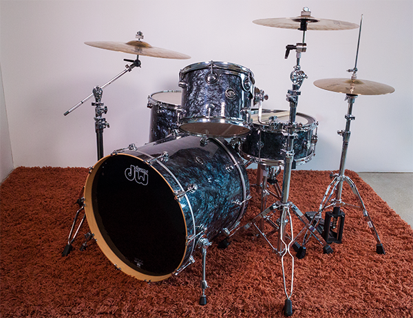 The Drum Workshop Performance drum shell kit with matching North American hard rock maple snare.
