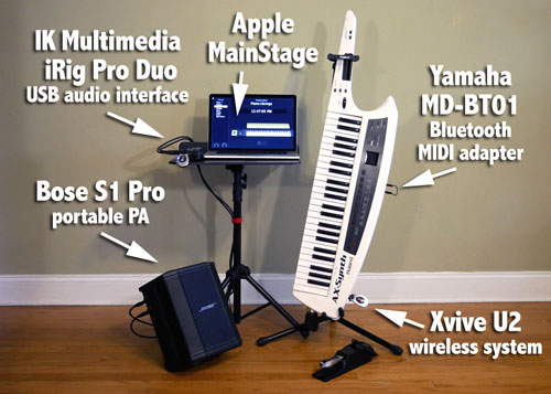 Maya's Wireless MIDI Keyboard Rig