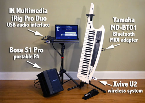 Maya's Wireless MIDI Keyboard Rig