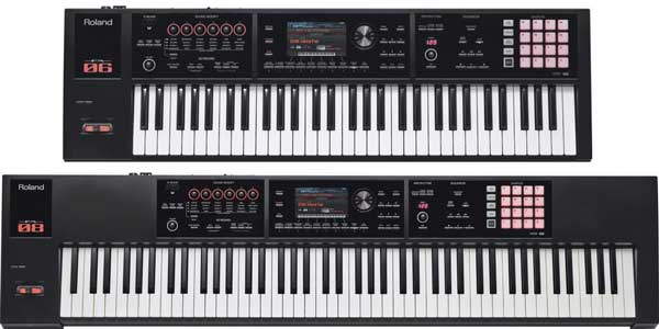 Roland FA-06 and FA-08 workstation keyboards