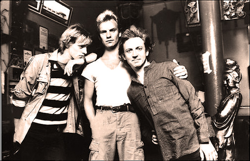 From left, Steward Copeland, Sting, Andy Summers