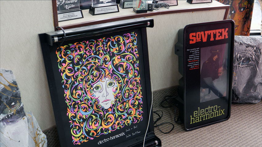 EHX Memorabilia in Mike Matthews' office