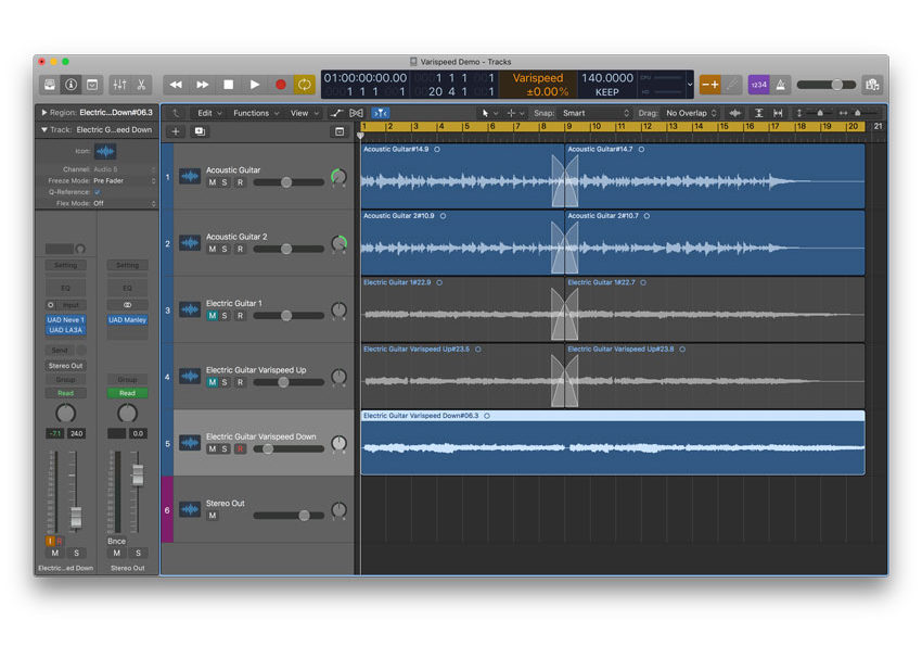 Logic Pro X session.