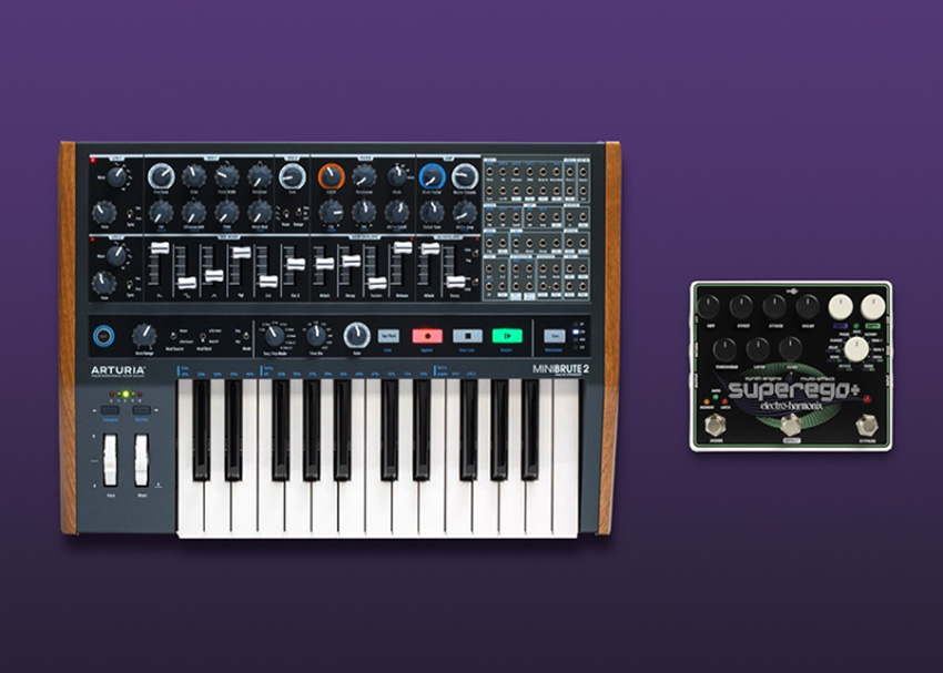 Perfect Pairings: Arturia MiniBrute 2 and Electro-Harmonix Superego Plus