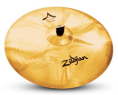 "A 22"" machine-hammered Zildjian A Custom ride"