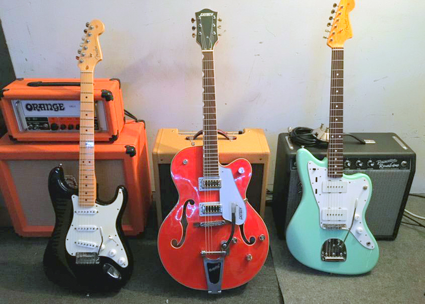 Vintage Vibrato Systems: Fender Stratocaster, Gretsch 5420T, and a Fender Jazzmaster