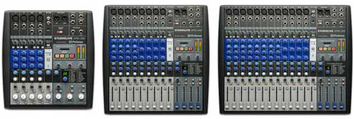 PreSonus StudioLive AR series USB mixers