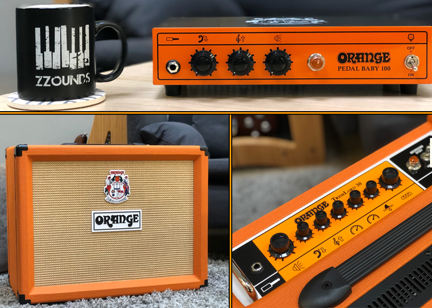 Orange TremLord 30 and Pedal Baby