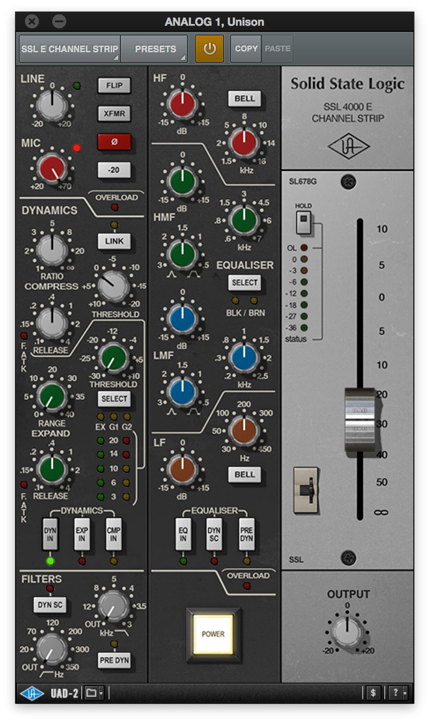 SSL 4000 E Channel Strip