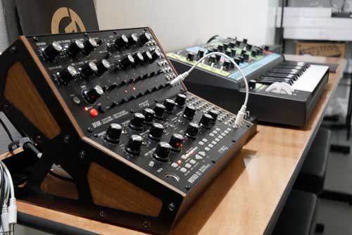 Moog Mother-32, Moog DFAM, and Moog Grandmother