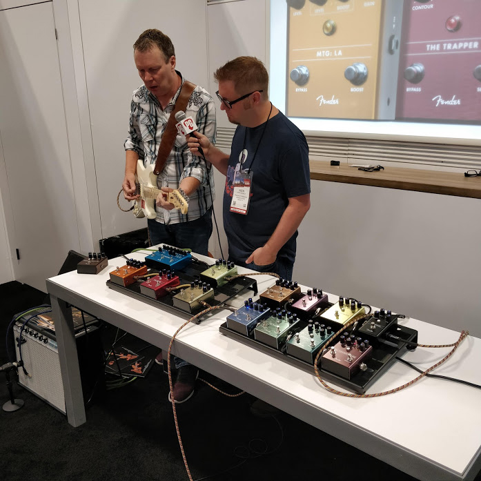 Stan Cotey gives an interview to Premier Guitar at Summer NAMM 2019.