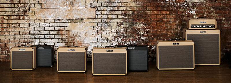 Roland Blues Cube acoustic amplifiers lineup.