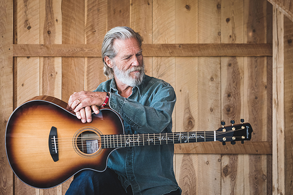 "Jeff Bridges with his ""All in this Together"" Breedlove"