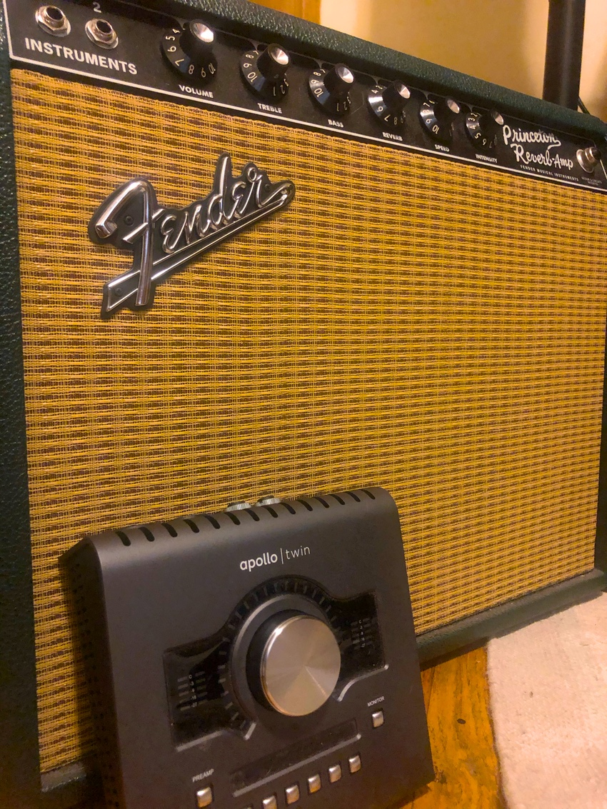 My Apollo Twin X and (real) Fender Princeton
