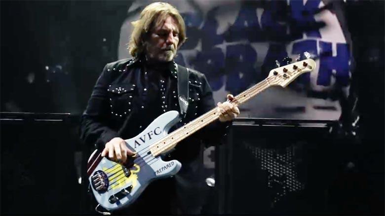 Geezer Butler AVFC Bass Black Sabbath Birmingham